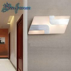48.00$  Buy now - http://ali4jw.worldwells.pw/go.php?t=32691554009 - indoor 8W LED AC85-265V Lighting Wall Lamp Acrylic Lights Minimalist Living Room Lamp Light Aisle Corridor Sconce free delivery 48.00$