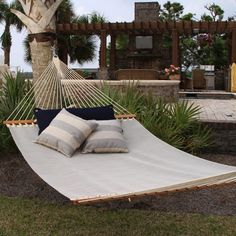 Pawleys Island Large Textilene Pool Side Hammock - Linen & Tree Straps TS120 Click for details: http://heavenonhammocks.com/products/pawleys-island-large-textilene-pool-side-hammock-linen-001