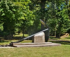 Confederate Anchor used to try and stop Grant's Union advancement at Columbus-Belmont State Park in Kentucky