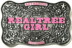 DUCK DYNASTY REALTREE GIRL AUTHENTIC BELT BUCKLE OFFICIALLY LICENSED