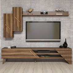 Comoda Tv Beril cu Raft – Nuc – Bonlavie Best Picture For TV unit styling mounted tv For Your Taste You are looking for something, and it is going to. Modern Tv Unit Designs, Modern Tv Wall Units, Living Room Tv Unit Designs, Interior Design Living Room, Tv Stand Furniture, Tv Unit Furniture, Tv Unit Decor, Tv Wall Decor, Tv Cabinet Design
