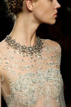 Marchesa Couture F/W 2012. Gown detail.