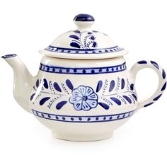 Global Goods Partners Tea Pot (49 CAD) ❤ liked on Polyvore featuring home, kitchen & dining, teapots, no color and floral teapot