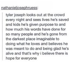 Omg never thought about that.. guess I'm not the only one TYLER AND JOSH saved