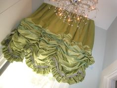 Leatherwood Design Co: April 2012. Ruffled, satin balloon shade with ruffles on the bottom.