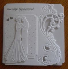 Scrapbooking Faeries: Inspirational card ideas - Wedding World Wedding Day Cards, Wedding Shower Cards, Wedding Cards Handmade, Wedding Anniversary Cards, Handmade Birthday Cards, Greeting Cards Handmade, Tattered Lace Cards, Karten Diy, Engagement Cards