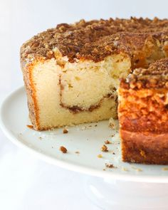 Replicate this Sour Cream Pecan Coffee Cake in our Coffee Cake Pan! Nordic Ware, Made in the USA. Just Desserts, Delicious Desserts, Yummy Food, Sweet Recipes, Cake Recipes, Dessert Recipes, Brunch Recipes, Sour Cream Coffee Cake, Coffe Cake