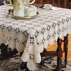 Leisure Arts - Legacy Tablecloth Thread Crochet Pattern ePattern, $4.99 (http://www.leisurearts.com/products/legacy-tablecloth-thread-crochet-pattern-digital-download.html)