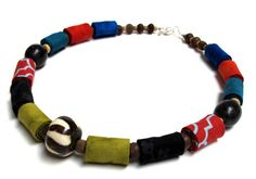 Multi-color boutique fiber necklace