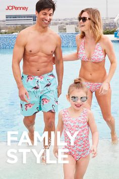 c31045d315 Matching swimsuit styles for the whole family are the cutest way to vacay.  And what