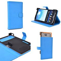 Vintage Blue Lux Protective Case fits ZTE Grand Memo V9815 |Universal fit with Stand Function + ND Cable Wrap http://www.smartphonebug.com/accessories/19-best-zte-grand-memo-v9815-cases-and-covers/