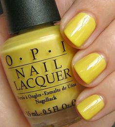 OPI Banana Bandanna (i actually really like this color...for summer...maybe only on my toes...or maybe on my nails too)