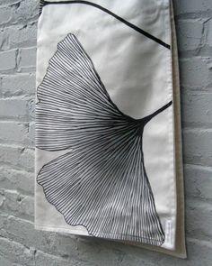 Baby blanket - Marimekko organic gingko black