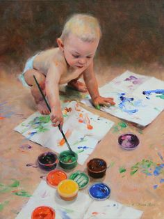 Baby Painting - Reckless Abandon by Anna Rose Bain