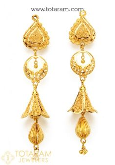 Elegant Design jewelry from India - Looking for the best quality indian gold jewelry, indian gold jewelry, plus indian jewelry stores in atlanta,. Click VISIT link above for more info Gold Chandelier Earrings, Gold Drop Earrings, Small Earrings, Gold Necklace, Kids Gold Jewellery, Gold Jewelry, Dainty Jewelry, Glass Jewelry, Modern Jewelry
