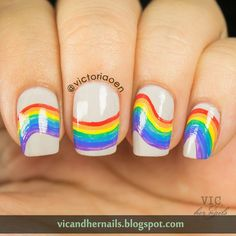 Vic and Her Nails: OMD2 Day 11 - Rainbow