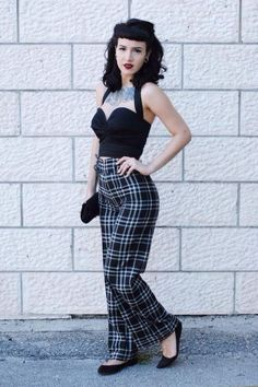 Vintage rockabilly fashion style outfits 23