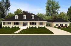 Williamsburg II House Plan - Williamsburg II House Plan Front - Archival Designs