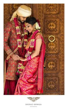 Pink Kancipuram silk saree with pink Garland