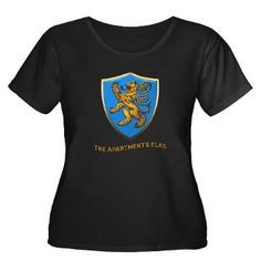 Big Bang Theory LION FLAG Women's Plus Size Scoop | Gifts For A Geek | Geek T-Shirts    $US35 + P&H