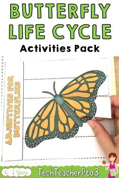 This pack contains a huge range of activities on the life cycle of the butterflies and is especially fun when you have hatching caterpillars in your classroom! Suitable for PreK through to Years 2 this pack provides many differentiated activities to discuss the life of butterflies with some fantastic science activities for early years primary teachers. #science #lifecycle #butterflies #teacherspayteachers