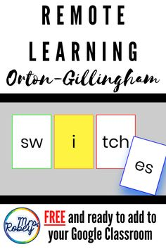 Distance Learning Resources - Easy to Use Tools - Mrs. Dyslexia Teaching, Learning Phonics, Phonics Lessons, Phonics Activities, Learning Resources, Teaching Reading, Teaching Technology, Reading Lessons, Language Activities