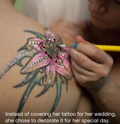 This tattoo it way too much, bit I love the idea of doing a little something to make my tattoo stand out on that day