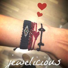 Are you ready for Valentine? Macrame Jewelry, Macrame Bracelets, Evil Eye, Anklets, Friendship Bracelets, Knots, Beads, Instagram Posts, Handmade