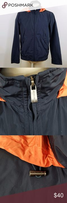 8fba8c26318c Michael Kors Mens Blue Orange Windbreaker Jacket Michael Kors Men s Medium  Blue Orange Lightweight Jacket Hooded