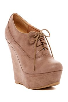 Elegant Footwear Sopia Wedge Oxford Bootie by Elegant on @nordstrom_rack
