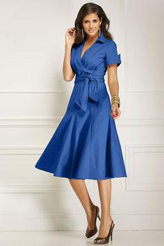 Petite-Poplin-Wrap-Dress