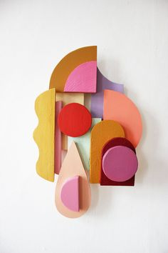 TILDE GRYNNERUP Abstract Shapes, Geometric Shapes, Abstract Art, Wall Sculptures, Sculpture Art, Wood Art, Art Projects, Illustration Art, Creations