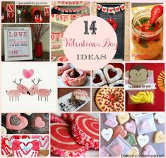 14 Valentine's Day Ideas - drinks, decor, desserts, cards, and fun!
