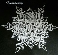 35 Best Mandala Rangoli designs to try - Wedandbeyond Indian Rangoli Designs, Rangoli Border Designs, Rangoli Ideas, Rangoli Designs With Dots, Rangoli Designs Images, Beautiful Rangoli Designs, Free Hand Rangoli Design, Small Rangoli Design, Mandala Design