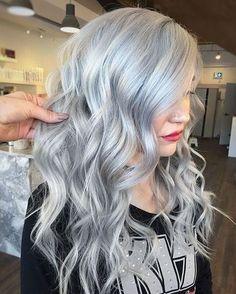 Hair blonde to silver hair, grey ash blonde, edgy blonde hair, blue hai Edgy Blonde Hair, Silver Blonde Hair, Wavy Hair, Lilac Hair, Emo Hair, Pastel Hair, Green Hair, Dyed Hair, Long Silver Hair