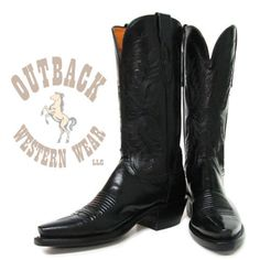 """Manufacturer: Lucchese Style#: N4501 Description: - Leather Sole - Snip Toe - Riding Heel - 12"""" Shaft - Buffalo Calf Western Boots, Cowboy Boots, Calves, Heels, Buffalo, Leather, Black, Fashion, Heel"""
