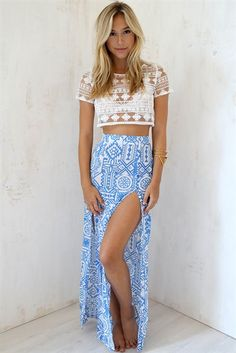 Honolulu Maxi Skirt | SABO SKIRT