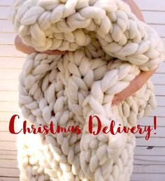 Huge Super Chunky Knit Merino Wool Baby Blanket Giant Knit, Extreme Knitting, Extra Chunky Wool Blanket, Bulky Knit Blanket, Arm Knit by lilyandpeabody on Etsy https://www.etsy.com/listing/292319251/huge-super-chunky-knit-merino-wool-baby