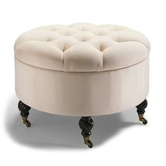 Collette Tufted Storage Ottoman - Frontgate