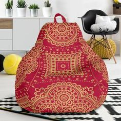 Royal Red Bean Bag Chair – This is iT Original Red Bean Bag, Royal Red, Brand Store, Bean Bag Chair, Beans, Just For You, House Design, Bag Chairs, Crafts