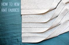5 ways to hem knit fabrics