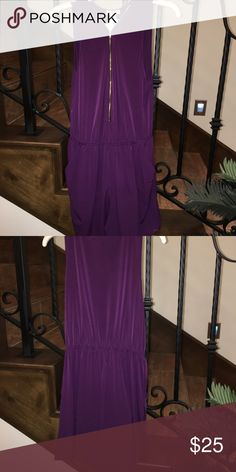 NWT Eggplant Purple Romper NWT; adorable purple romper; made with a lightweight material. Paper Plane Dresses