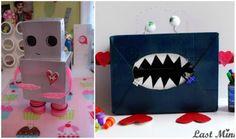 Valentine Crafts for Children... love the robot box