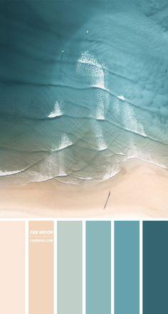 Taupe Color Palettes, Ocean Color Palette, Color Schemes Colour Palettes, Pastel Colour Palette, Ocean Colors, Blue Colour Palette, Warm Color Schemes, Coastal Color Palettes, Beach Color Schemes