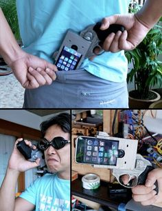 Cool iPhone case. Be interesting to see the looks people would give.