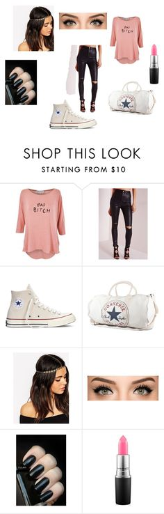 """conversz"" by aahd-nagib on Polyvore featuring Missguided, Converse, ASOS, MAC Cosmetics, women's clothing, women's fashion, women, female, woman and misses"