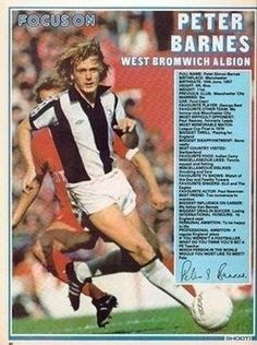 Peter Barnes, English Football League, West Bromwich, Big Men, Football Players, Profile, Magazine, Baseball Cards, Running