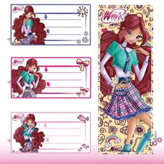 f75761e7ce Winx Club, School Kit, Mariana, Dairy, Bloom, Notebook, Fairies,  Printables, Meet