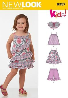 NEW LOOK SEWING PATTERN Toddlers  Dress Top Shorts and Bolero  SIZE 1/2 - 4 6357