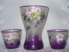 Decoupage made on glass or vases